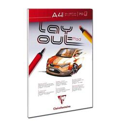 Clairefontaine Layoutblok A4 - 75g syrefri 70 sider