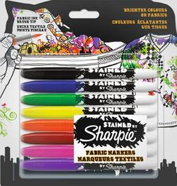 Marker Sharpie Stained tekstil 1,0mm ass 8 stk.