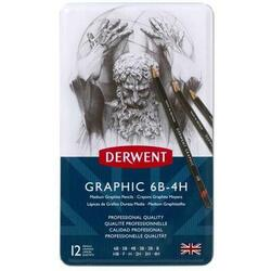 Derwent Blyant - Graphic Medium 12 stk. 6B-4H