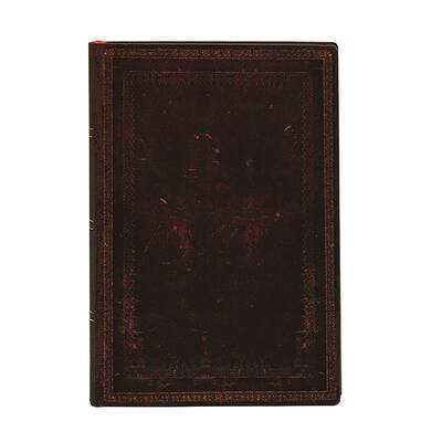 Paperblanks - Old leather Collection - Black Moroccan Bold - Mini - 240 sider - Ulinieret