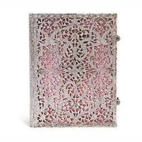 Paperblanks - Silver filigree - Blush Pink - Ultra - 240 sider - Linieret